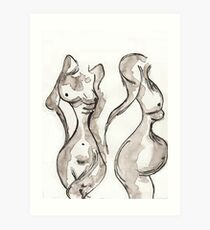Two Nudes Art Print