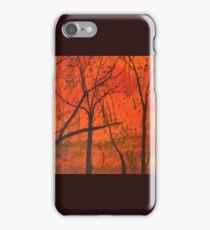 Bushfire Silhouette iPhone Case/Skin