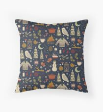 Winter Nights Throw Pillow