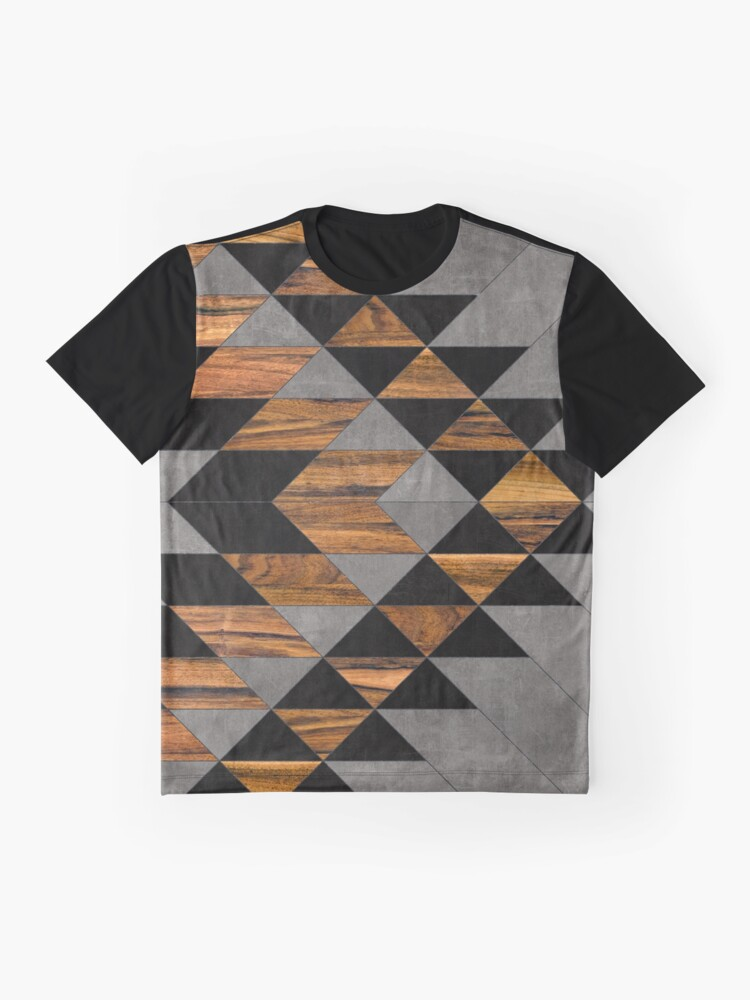Alternate view of Urban Tribal Pattern 10 - Aztec - Concrete and Wood Graphic T-Shirt