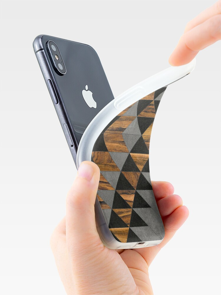 Alternate view of Urban Tribal Pattern 10 - Aztec - Concrete and Wood iPhone Case & Cover