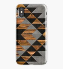 Urban Tribal Pattern 10 - Aztec - Concrete and Wood iPhone Case/Skin