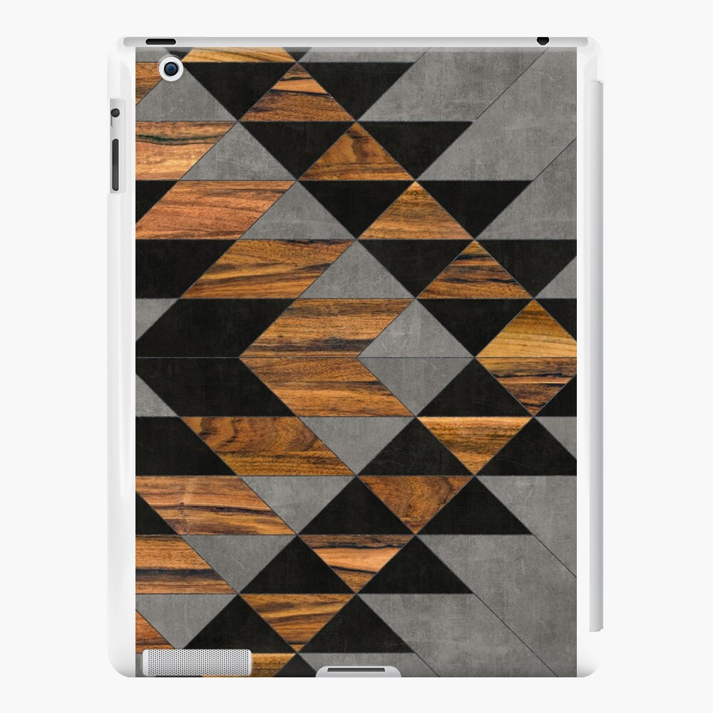Urban Tribal Pattern 10 - Aztec - Concrete and Wood iPad Cases & Skins