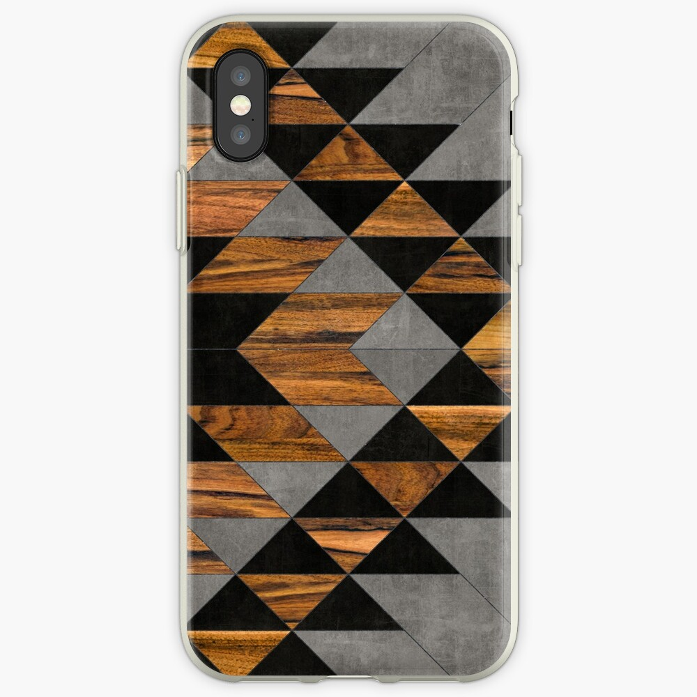 Urban Tribal Pattern 10 - Aztec - Concrete and Wood iPhone Cases & Covers