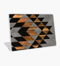 Urban Tribal Pattern 10 - Aztec - Concrete and Wood Laptop Skin