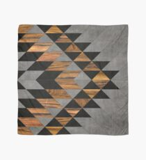 Urban Tribal Pattern 10 - Aztec - Concrete and Wood Scarf