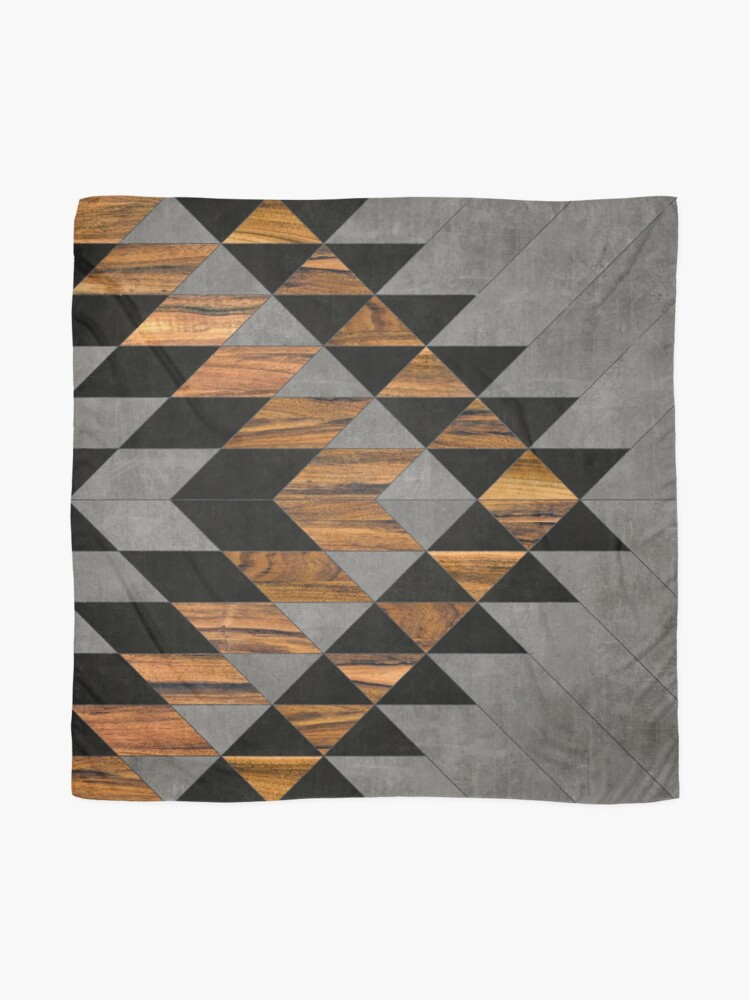 Alternate view of Urban Tribal Pattern 10 - Aztec - Concrete and Wood Scarf