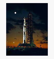 APOLLO 4, Saturn V Rakete, für die amerikanischen bemannten Mondlandung Missionen verwendet Fotodruck