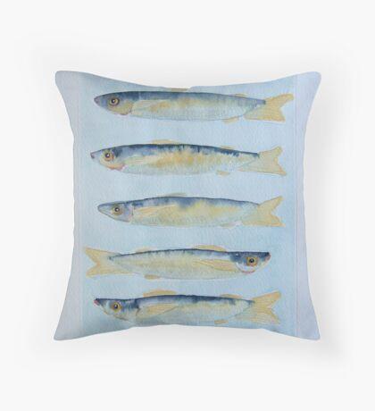 sardine alla griglia © patricia vannucci 2008  Throw Pillow