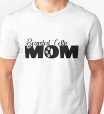 Camiseta ajustada barbudo mamá del collie - Hundemama