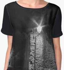 Carcassonne medieval fortress highlighted night view  Chiffon Top