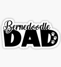 Bernedoodle dad - Dog Dad Sticker