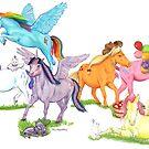 Little Ponies - My Little Pony by Jesse Rubenfeld