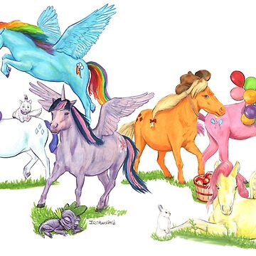 Little Ponies - My Little Pony by crossstreet