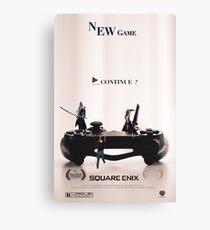 "Final Fantasy VII ""NEW GAME"" Canvas Print"