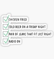 Chicken Fried Checklist Sticker