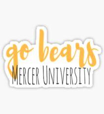 Mercer University Go Bears Sticker