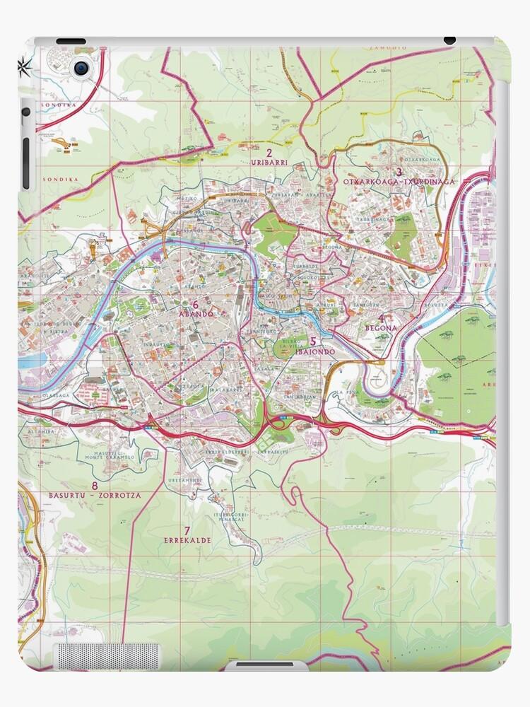Bilbao On Map Of Spain.Bilbao Street Map Hd Spain Ipad Case Skin By Superfunky