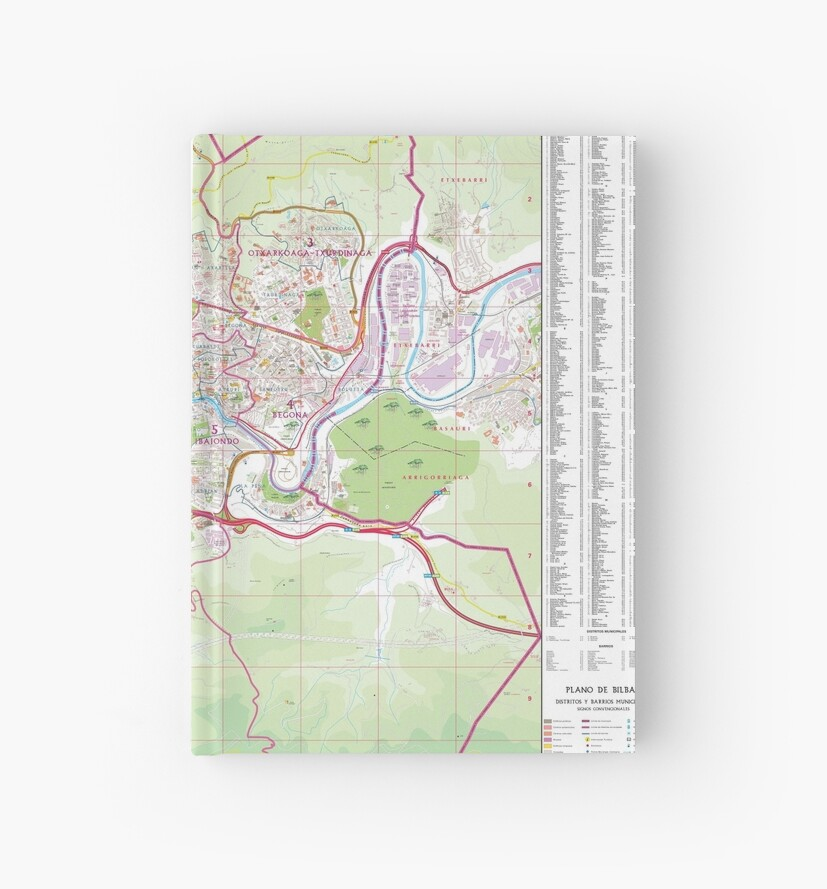 Bilbao Street Map Hd Spain Hardcover Journals By Superfunky