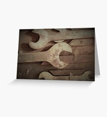 Rusty Wrenches Greeting Card