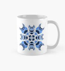#6 Blue Geometric Circles Design  Mug
