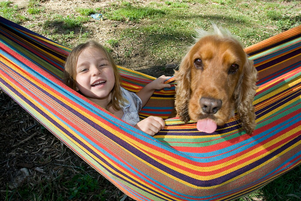 Maygen and Adam in a Hammock by James Troi