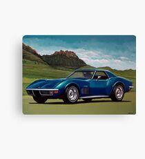Chevrolet Corvette Stingray 1971 Painting Canvas Print