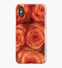Red color rose flowers pattern iPhone Case/Skin