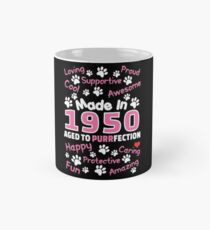 Made In 1950 Aged To Purrfection - Birthday Shirt For Cat Lovers Mug