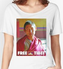Vintage Free Tibet Poster Women's Relaxed Fit T-Shirt