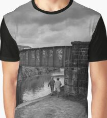 Couple Using Canal Towpath - Blackburn a Town and Its People Graphic T-Shirt
