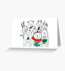 Seven little friends Greeting Card