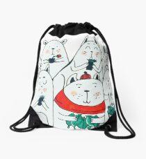 Seven little friends Drawstring Bag