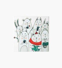 Seven little friends Art Board Print