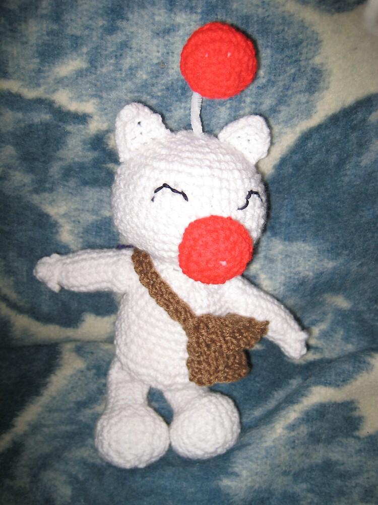 Moogle Crochet Plushie by RoboBarb