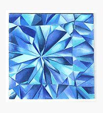 Blue Diamond Macro Photographic Print