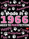 Made In 1966 Aged To Purrfection - Birthday Shirt For Cat Lovers by wantneedlove