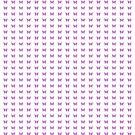 Peach Pink Purple Butterfly in Hexagonal Pattern II by Shelley Neff