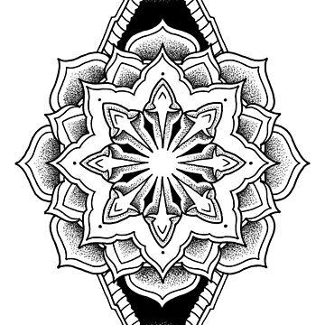 """Godless"" Sacred Geometry Mandala by zkorvin"