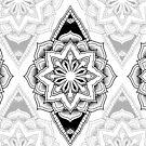 """Godless"" Sacred Geometry Mandala by Zak Korvin"