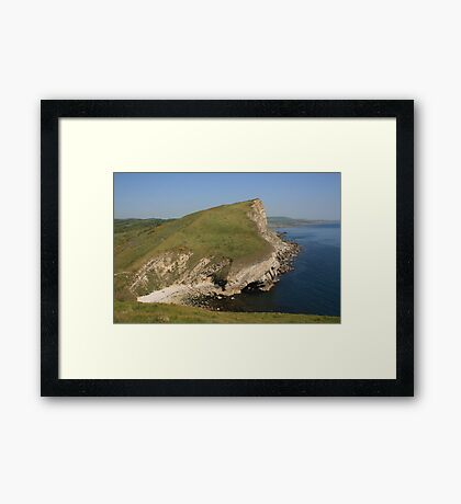 Gad Cliff From Worbarrow Tout Framed Print