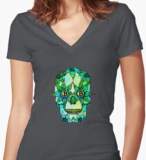 Lady Green Women's Fitted V-Neck T-Shirt