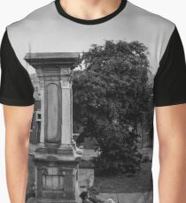 Man Resting by Grave - Blackburn a Town and Its People Graphic T-Shirt