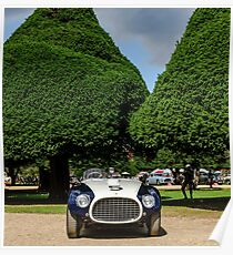Michael and Katharina Leventhal 1953 Ferrari 340MM Vignale Spyder Barchetta @ Hampton Court Palace 0324AM Poster