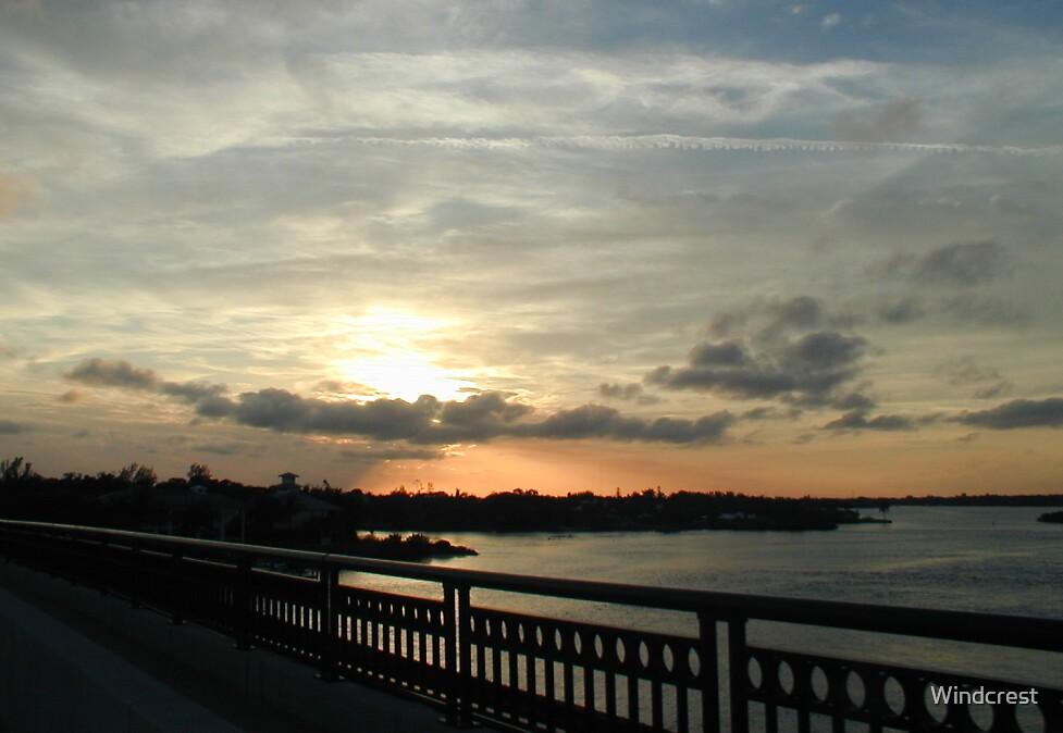 Sunset on the Bridge by Windcrest