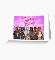 Dream Furry (Dream Daddy Parody) Greeting Card