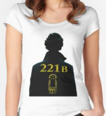 Sherlock // 221b Women's Fitted Scoop T-Shirt