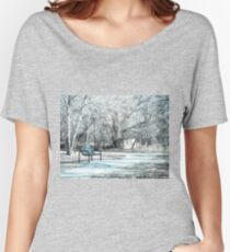 Winter Bench in the Park Women's Relaxed Fit T-Shirt