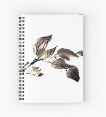 Autumn leaves sumi e Spiral Notebook