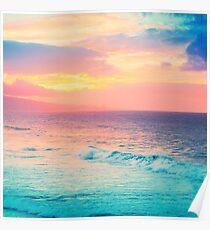 Hookipa Surf Sonnenuntergang Poster